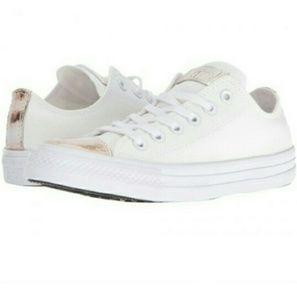 💕NWOB Converse gold brush toe cap sneakers